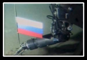 Russen setzen Fahne am Nordpol